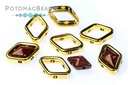 Halo Bead for Diamond Shapes - Gold (10 Pack)