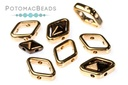 Halo Bead for Diamond Shapes - Rose Gold (50 Pack)