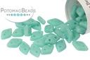 CzechMates 2-Hole Diamond Turquoise Matte