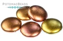 2 Hole 18mm Cabochon Ancient Gold