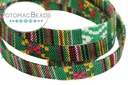 Cotton Flat Ethnic Cord Green Multi 10mm