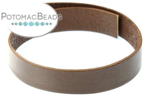 Leather Strap 15mm Chocolate