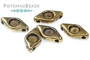 Antique Brass 2-Hole Connector Eye for SS16 Chatons
