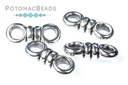 2-Hole Knot Bead Antique Silver