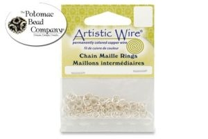 Silver Plated Art Wire Jump Ring 20G 4.37