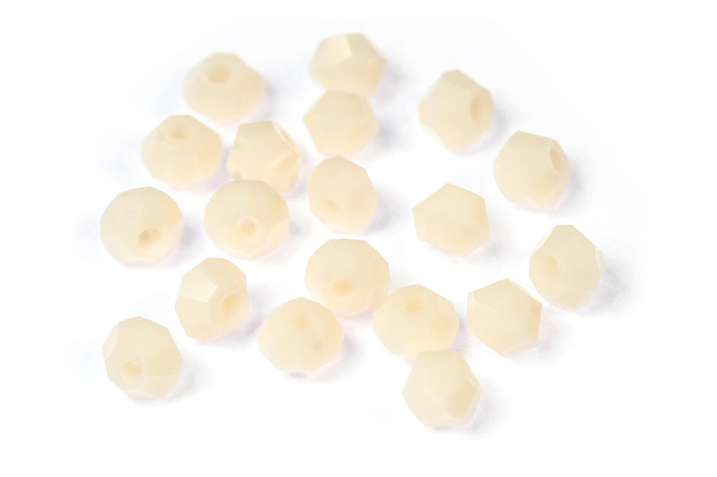 Potomac Crystal Bicones Cream Opal 4mm
