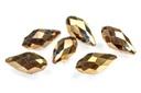 Potomac Crystal Briolettes - Metallic Bronze Iris - 6x12mm - Bag - Pack of 25