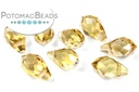 Potomac Crystal Briolettes - Gold Champagne AB - 5x8mm - Bag - Pack of 25