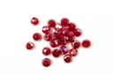 Potomac Crystal Round Beads - Garnet AB - 3mm - Bag - Pack of 200