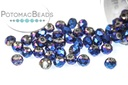 Potomac Crystal Rondelle Beads - Metallic Blue Iris - 1.5x2mm - Bag - Pack of 200