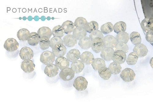 Potomac Crystal Rondelle Beads - Opal AB - 1.5x2mm - Bag - Pack of 200