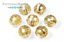 PC Disco Balls Gold Champagne AB 8mm (96 Facets)