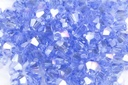 Potomac Crystal Bicones - Light Sapphire AB - 4mm - Bag - Pack of 120