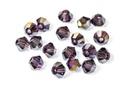 Potomac Crystal Bicones - Light Tanzanite AB - 4mm - Bag - Pack of 120