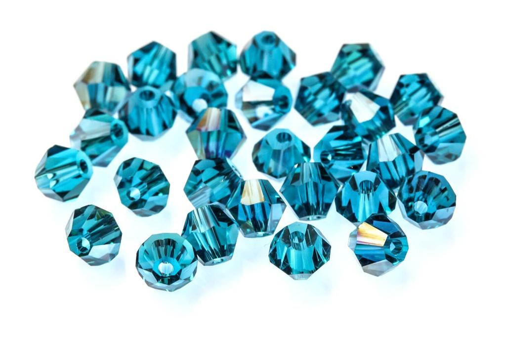 Potomac Crystal Bicones Blue Zircon 4mm