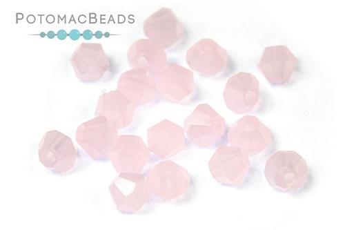 Potomac Crystal Bicones Pink Opal 4mm