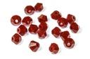 Potomac Crystal Bicones Crimson Opaque 4mm