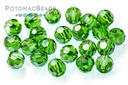 Potomac Crystal Round Beads - Emerald AB - 4mm - Bag - Pack of 100