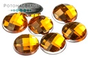 Resin Cab Faceted Topaz 12mm
