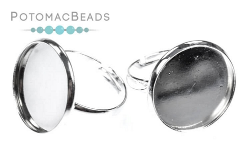 Ring Setting Round 18mm Silver Setting