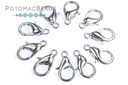 Lobster Clasp 12mm Antique Silver Plated (Pack of 10)