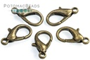 Lobster Clasp 16mm Antique Brass Plated (Pack of 10)