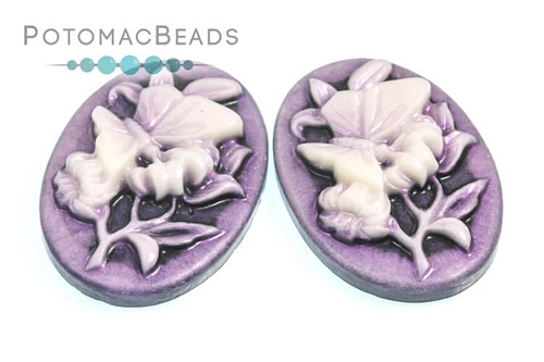 Resin Cameo Butterfly Violet 18x25m