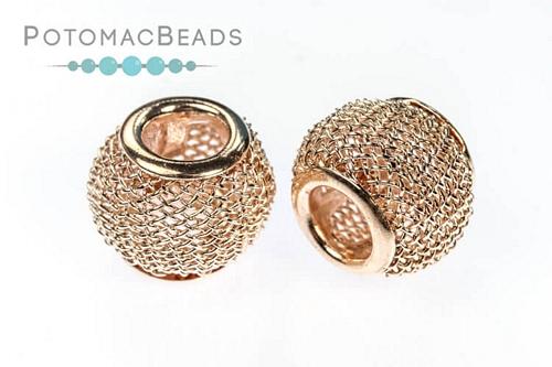Mesh Beads Rose Gold (9.7x11.7mm)