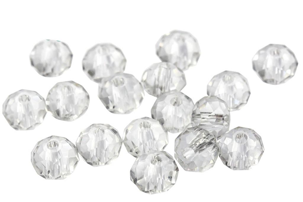 PC Rondelles Crystal
