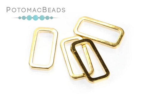 Perfect Form Rectangle Rose Gold Plated 6x12mm