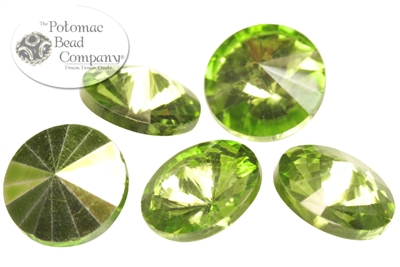 Potomac Crystal Rivoli - Olive Metallic Ice - 10mm - Bag - Pack of 25