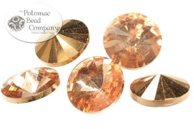 Potomac Crystal Rivoli - Crystal Capri Gold - 10mm - Bag - Pack of 25