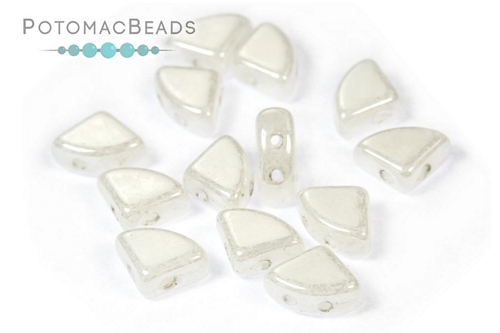 PieDuo Beads - White Shimmer