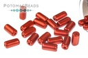 Tubelet Bead - Lava Red