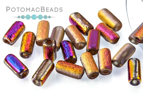 Tubelet Bead - Crystal Etched Sliperit Full (Factory Pack)