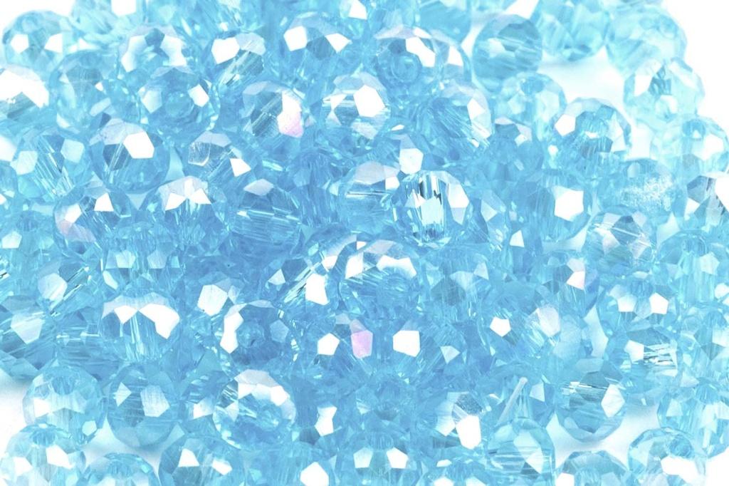 Potomac Crystal Rondelle Beads - Aqua AB - 2x3mm - Bag - Pack of 150