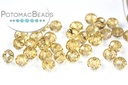 Potomac Crystal Rondelle Beads - Gold Champagne AB - 2x3mm - Bag - Pack of 150