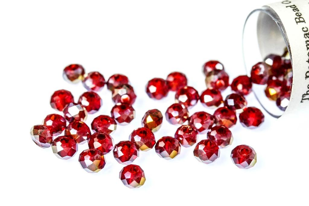 Potomac Crystal Rondelle Beads - Garnet AB - 2x3mm - Bag - Pack of 150