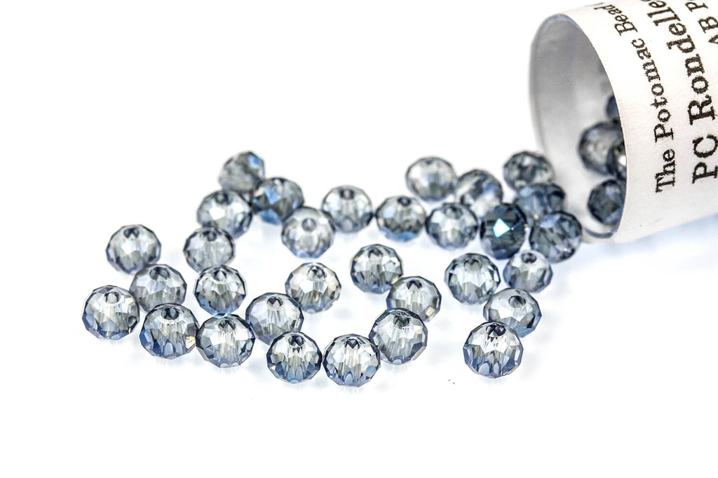 Potomac Crystal Rondelle Beads - Montana AB - 2x3mm - Bag - Pack of 150