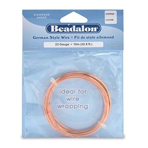 Beadalon German Wire 22g Copper
