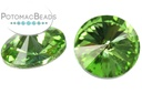 Potomac Crystal Rivoli Peridot 12mm Pack of 2
