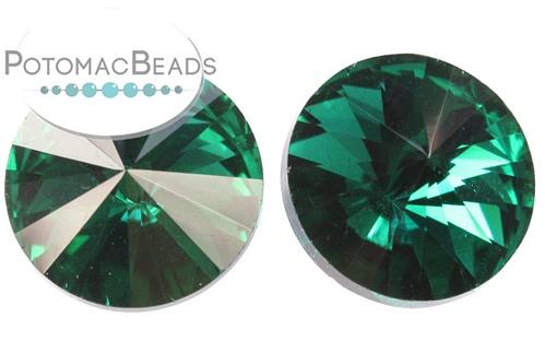 Potomac Crystal Rivoli Emerald 12mm Pack of 20