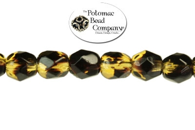 Czech Faceted Round Tortoise 4mm