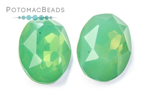 Potomac Crystal Ovals Pacific Opal 13x18mm