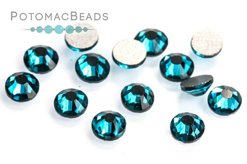 Potomac Crystal Flatbacks Blue Zircon SS16