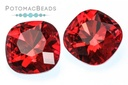 Potomac Crystal Cushion - Siam Ruby