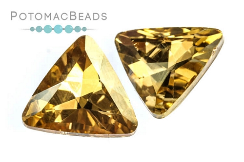Potomac Crystal Triangle - Gold Champagne 18mm