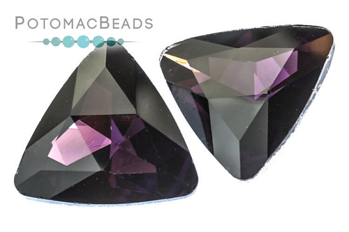 Potomac Crystal Triangle Crystal Amethyst 23mm