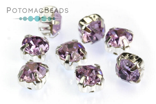 PC Bezeled Chatons Violet 6mm (SS28)