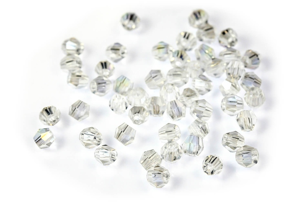 Potomac Crystal Bicones Crystal AB 2mm